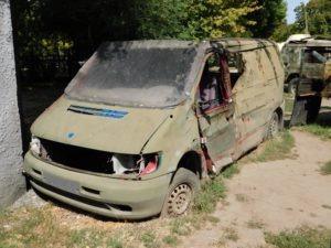 An abandoned van in Ukraine