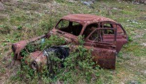 An abandoned Car in Kurtan, Armenia