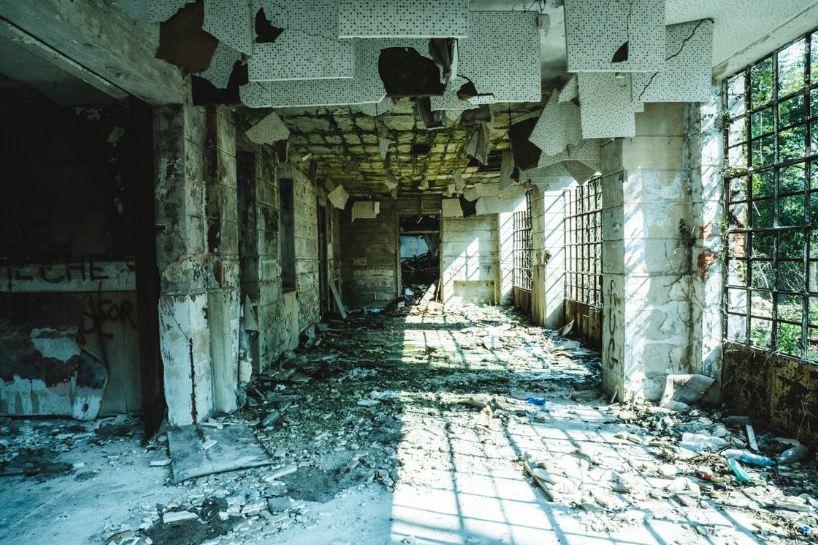 An abandoned hallway